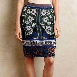 Moth Anthropologie Knit Sweater Pencil Skirt
